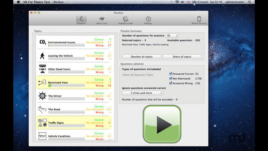 LGV Theory Test Lite for Mac - review, screenshots
