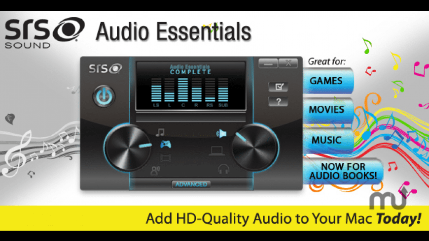 SRS Audio Essentials for Mac - review, screenshots