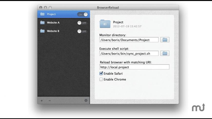 BrowserReload for Mac - review, screenshots