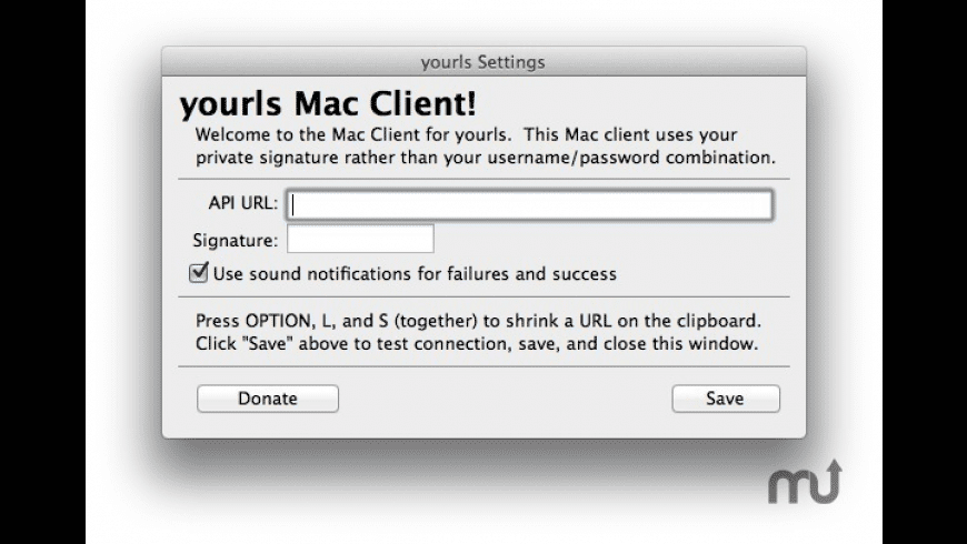 yourls for Mac - review, screenshots