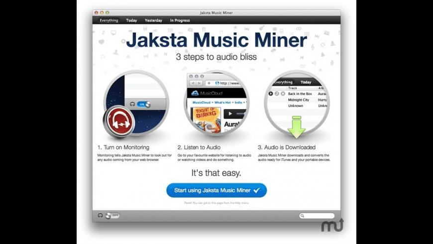 Jaksta Music Miner for Mac - review, screenshots