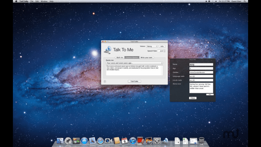 Talk To Me for Mac - review, screenshots