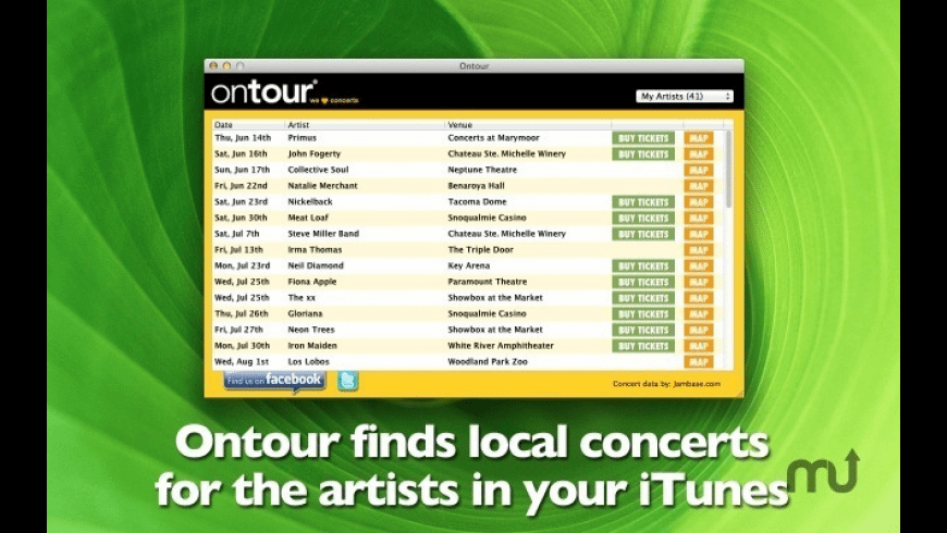 Ontour for Mac - review, screenshots