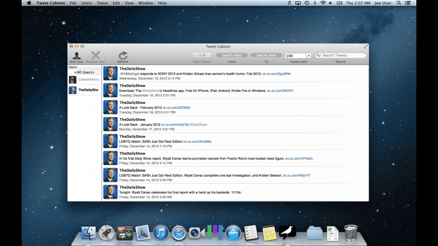Tweet Cabinet for Mac - review, screenshots