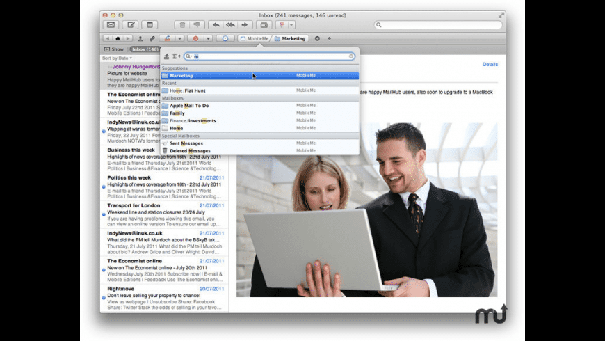 MailHub for Mountain Lion for Mac - review, screenshots