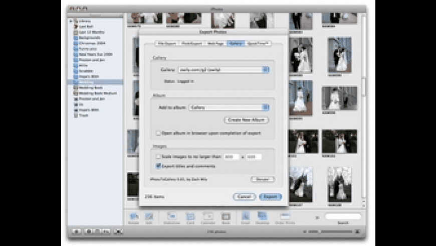 iPhotoToGallery for Mac - review, screenshots