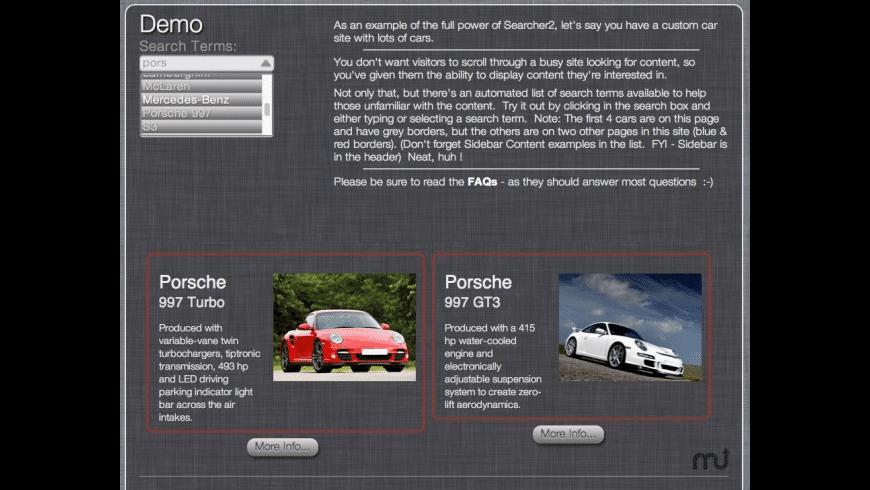 Searcher2 for Mac - review, screenshots