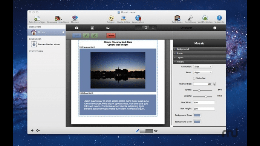 Mosaic Stack for Mac - review, screenshots