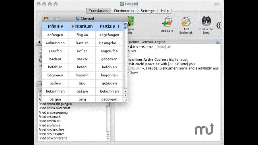 Slovoed Deluxe English/German Dictionary for Mac - review, screenshots