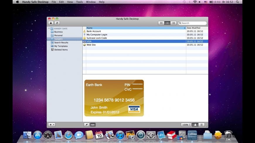 Handy Safe Desktop for Mac - review, screenshots