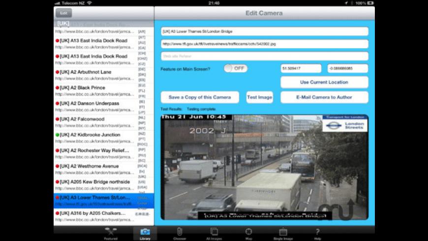 TrafficCamNZ for Mac - review, screenshots