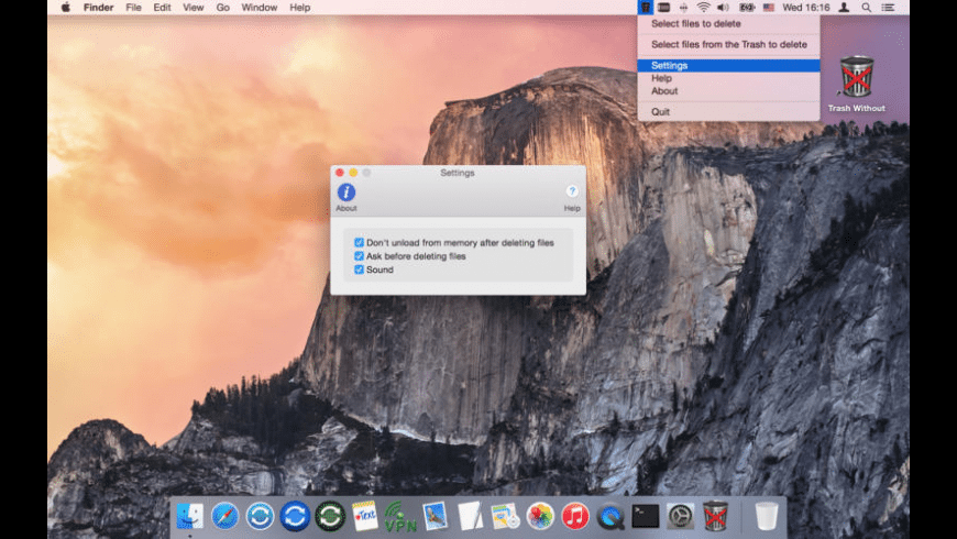 Trash Without for Mac - review, screenshots