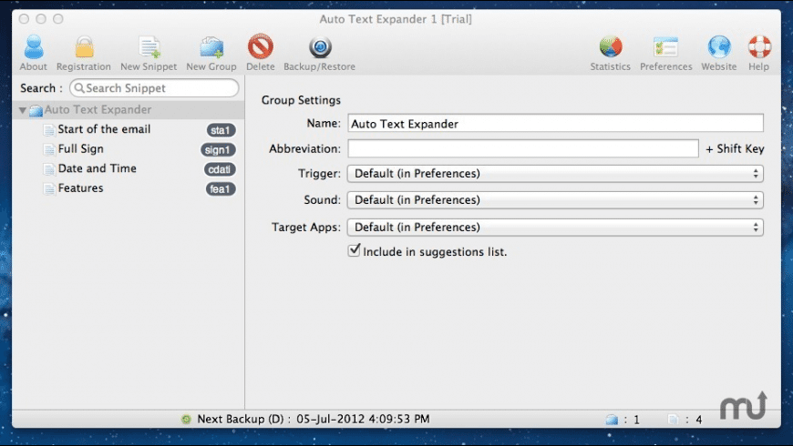 Auto Text Expander for Mac - review, screenshots
