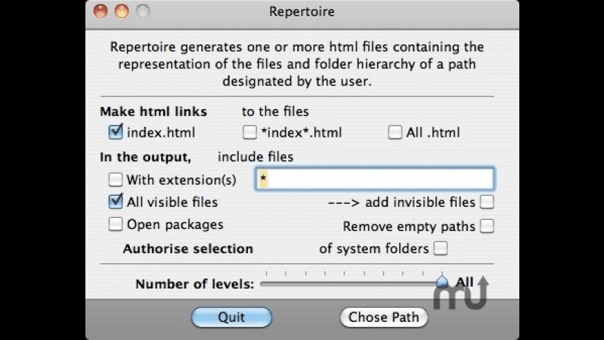 Repertoire for Mac - review, screenshots