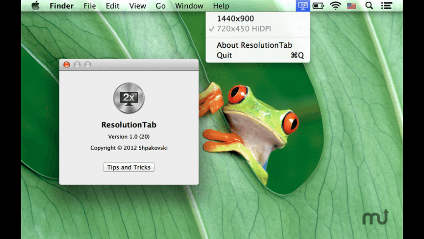 ResolutionTab for Mac - review, screenshots