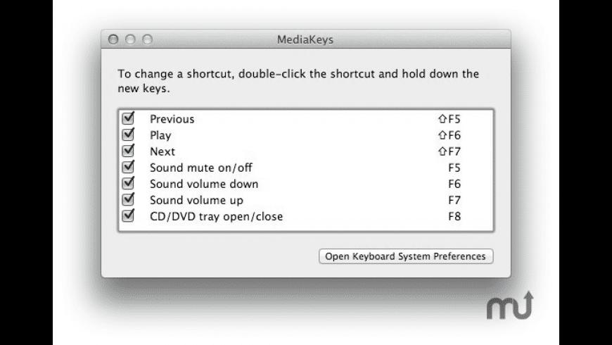 MediaKeys for Mac - review, screenshots