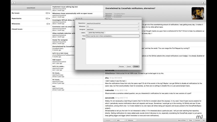 IssuesHub for Mac - review, screenshots