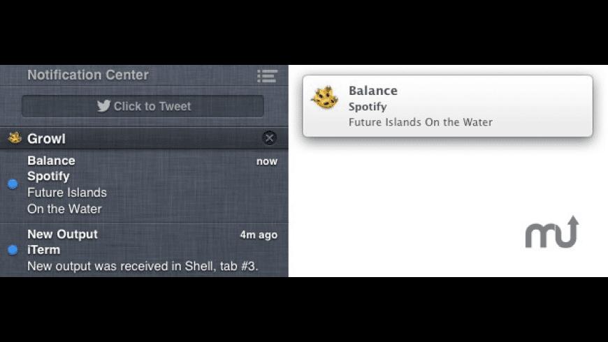 MountainGrowl for Mac - review, screenshots