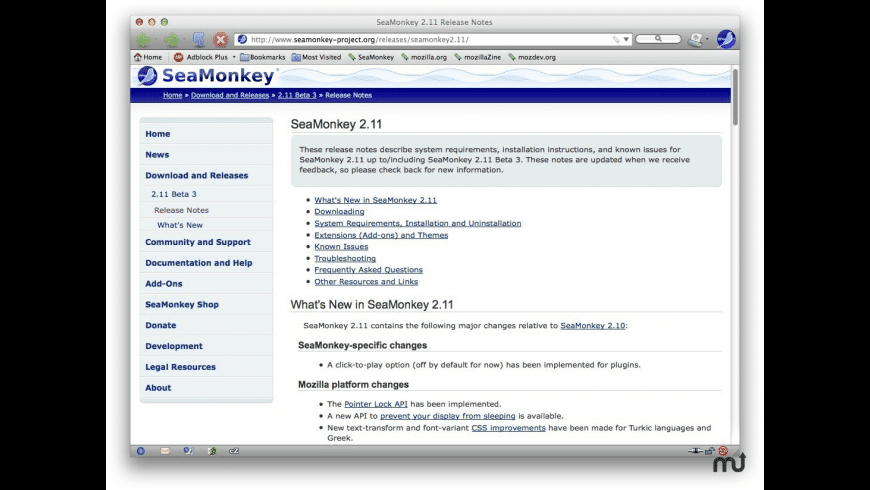 SeaMonkey for PPC for Mac - review, screenshots