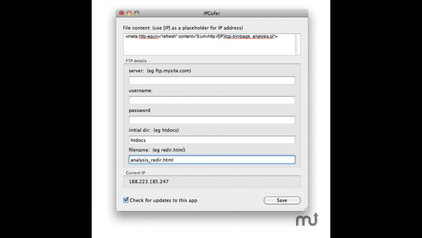 IPGofer for Mac - review, screenshots