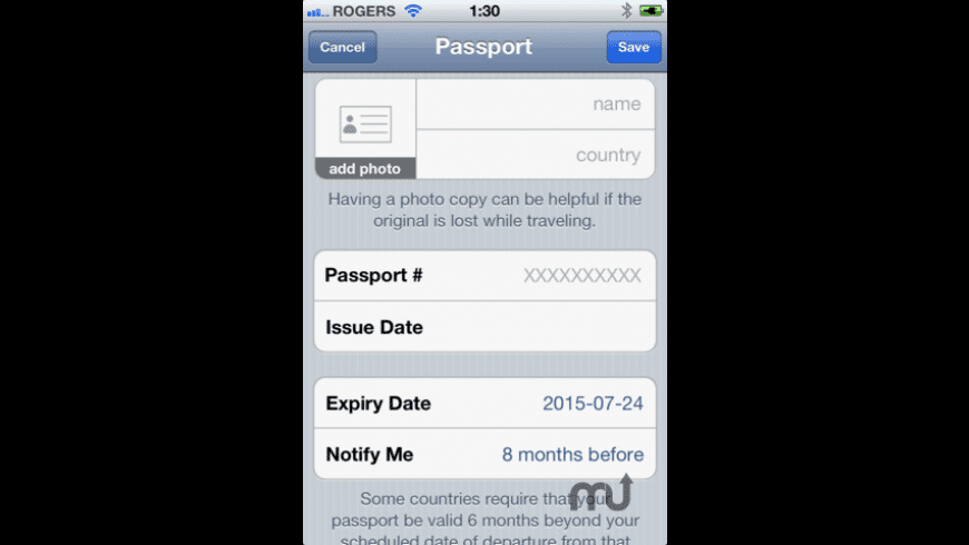 Travel Docs for Mac - review, screenshots