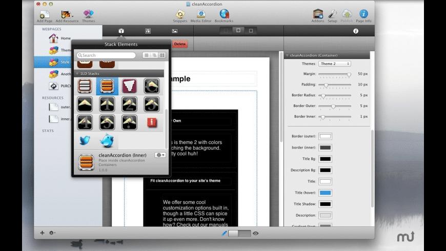 cleanAccordion for Mac - review, screenshots