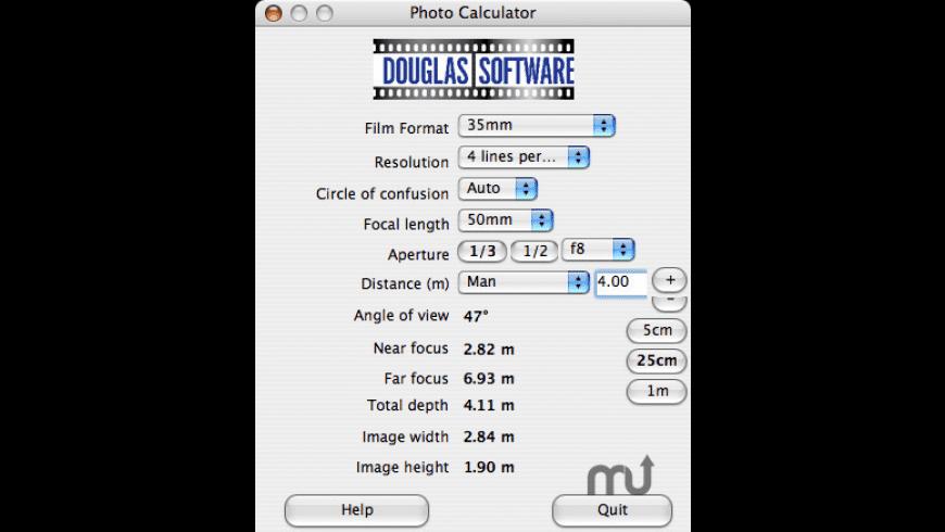 Douglas Photo Calculator for Mac - review, screenshots