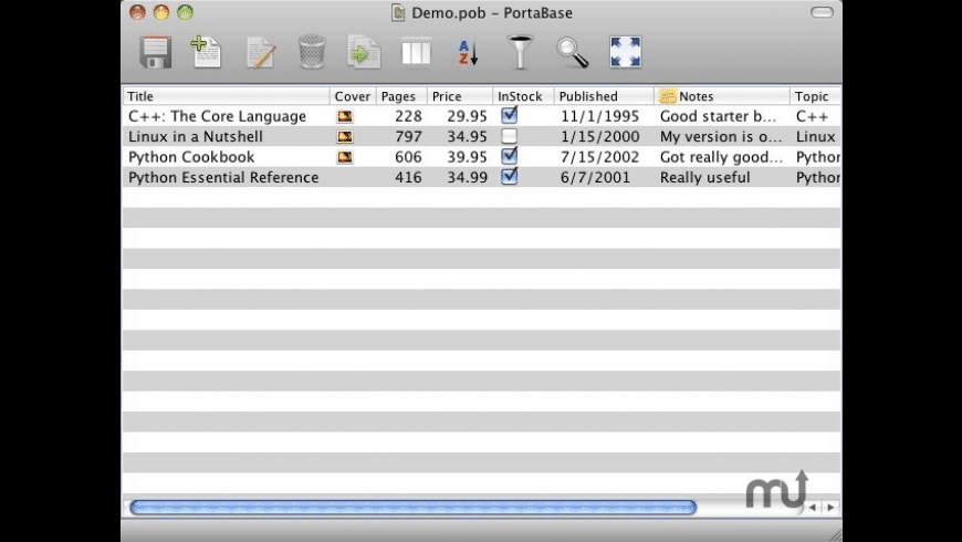 PortaBase for Mac - review, screenshots