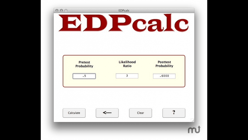 EDPcalc for Mac - review, screenshots