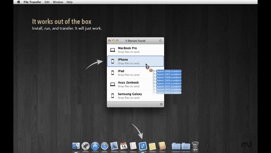 File Transfer for Mac - review, screenshots