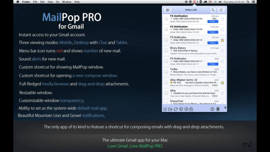 MailPop PRO for Mac - review, screenshots