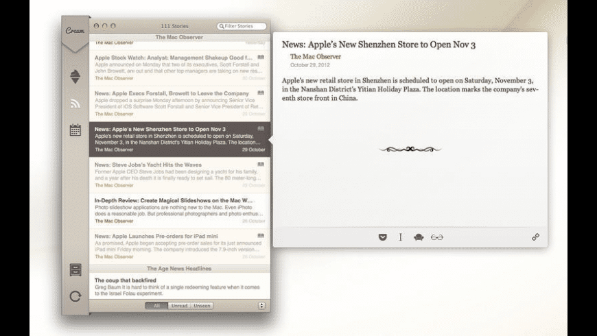 Cream for Mac - review, screenshots