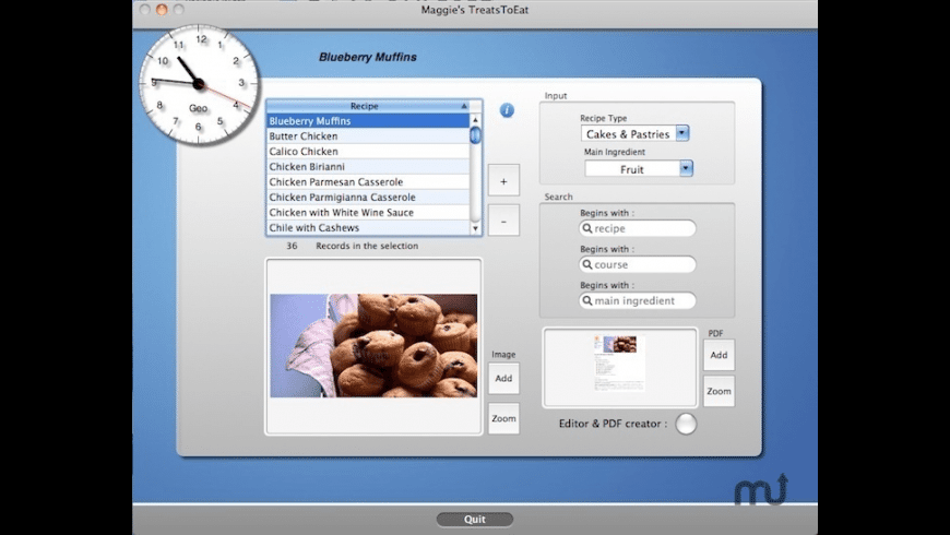 TreatsToEat for Mac - review, screenshots