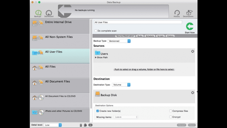 Data Backup for Mac - review, screenshots