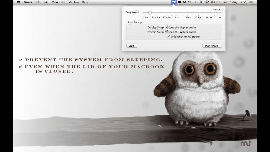 Stay Awake for Mac - review, screenshots