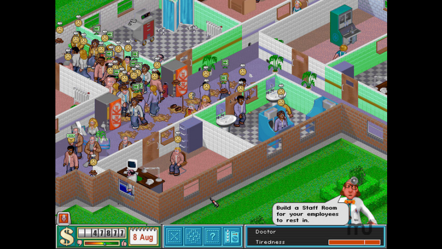 Theme Hospital for Mac - review, screenshots
