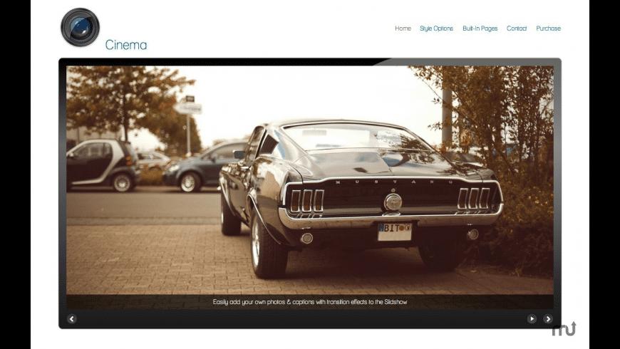 Cinema RapidWeaver Theme for Mac - review, screenshots