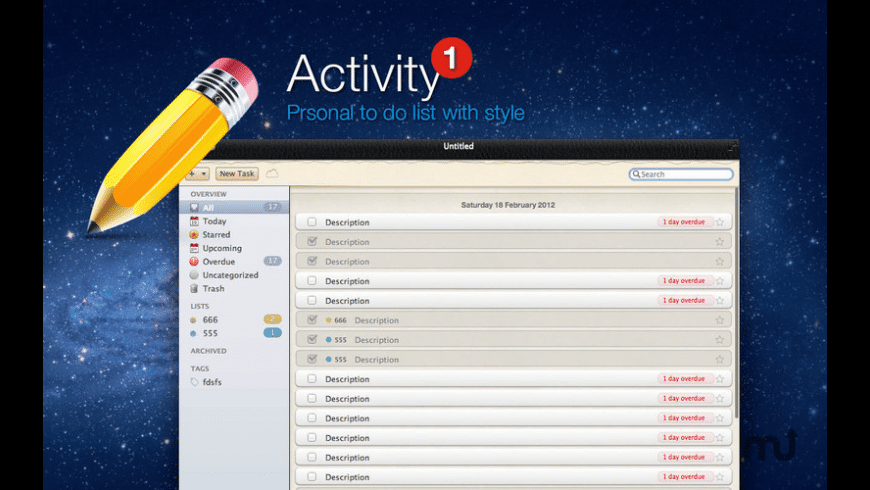 ToDo Activity for Mac - review, screenshots