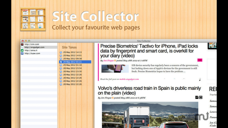 Site Collector for Mac - review, screenshots
