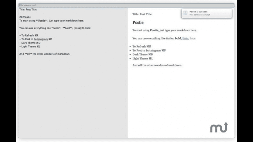 Postie for Mac - review, screenshots