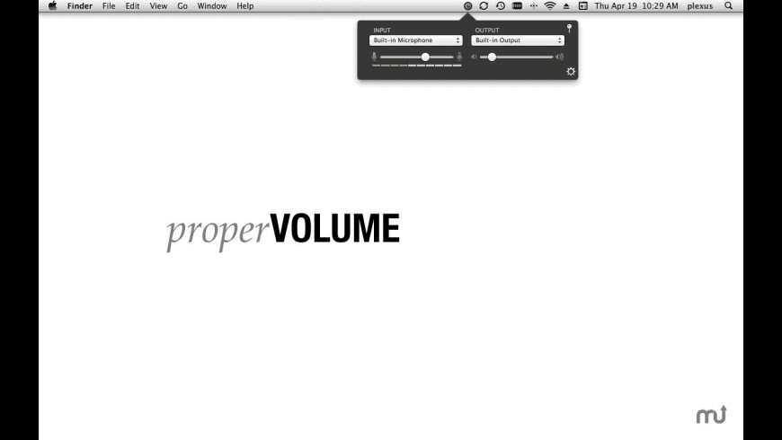 properVOLUME for Mac - review, screenshots
