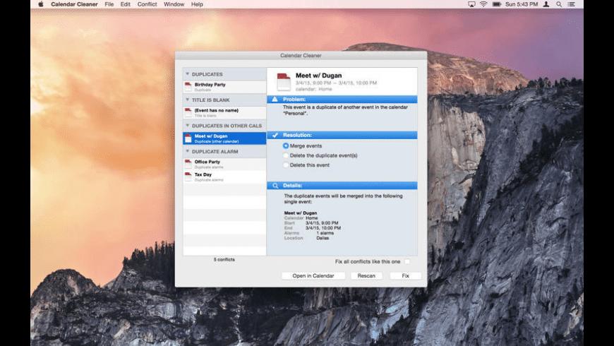 Calendar Cleaner for Mac - review, screenshots
