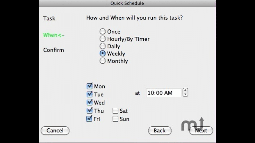 Auto Scheduled Tasks for Mac - review, screenshots