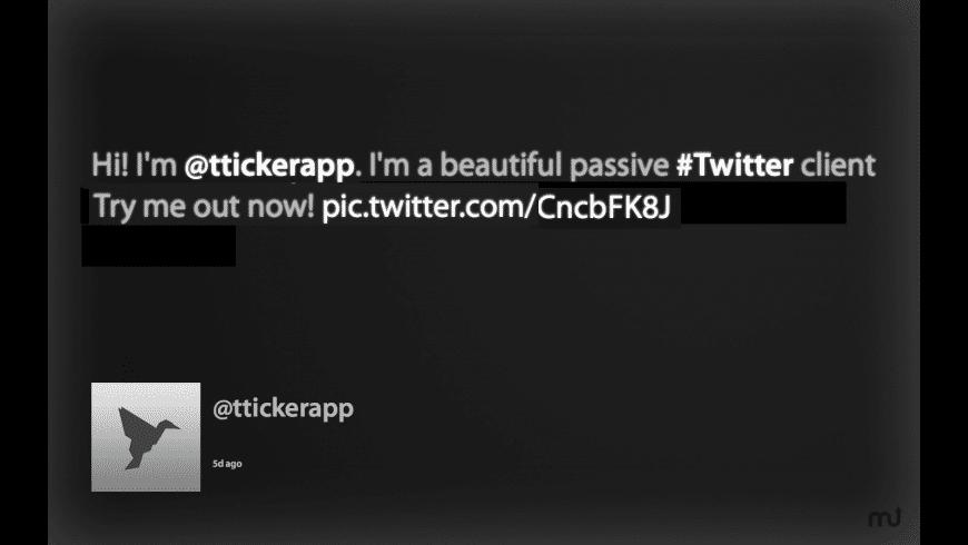 TwitterTicker  for Mac - review, screenshots