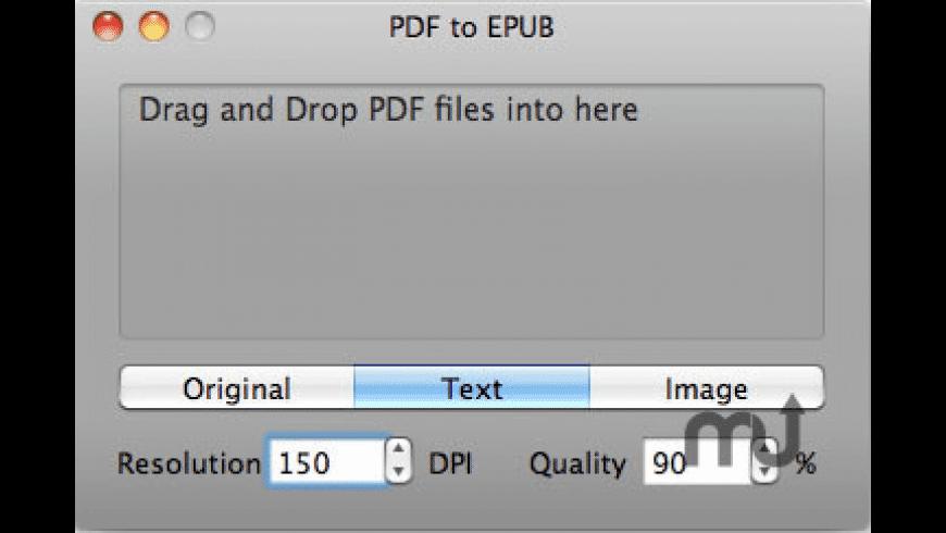PDF to EPUB for Mac - review, screenshots