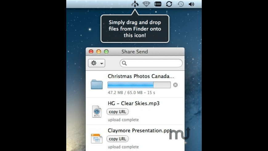 Share Send for Mac - review, screenshots