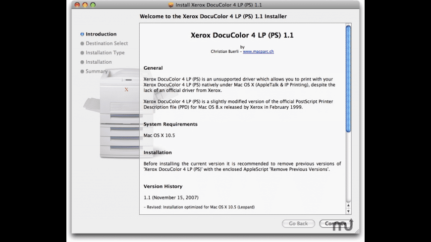 Xerox DocuColor 4 LP (PS) for Mac - review, screenshots
