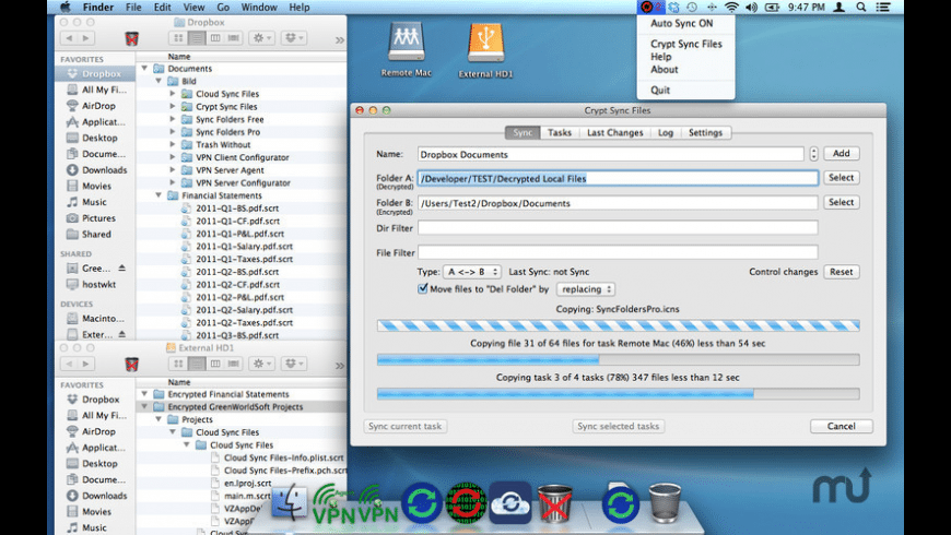 Crypt Sync Files for Mac - review, screenshots