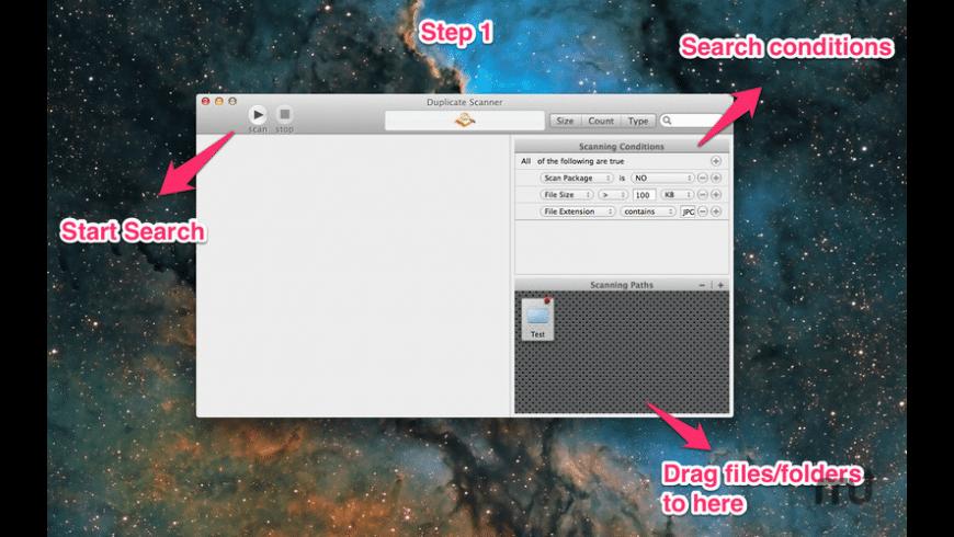 Duplicate Scanner for Mac - review, screenshots