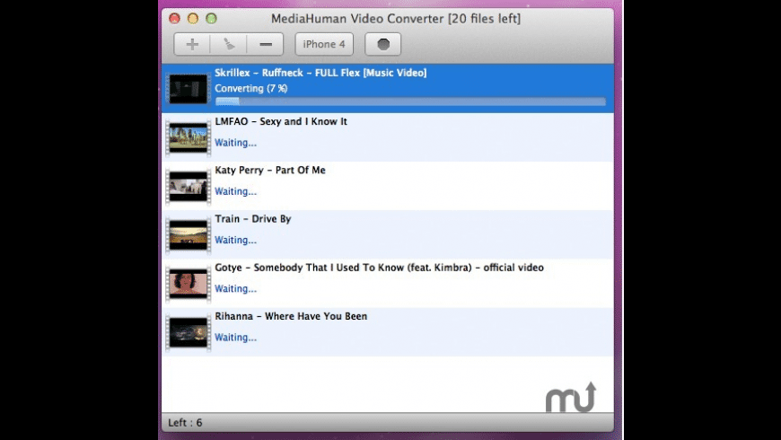 MediaHuman Video Converter for Mac - review, screenshots